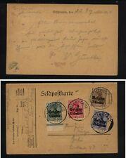 Belgium  4  stamps  post  card        MS0125
