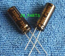 10pcs 3300uF 10V 105°C Radial Electrolytic Capacitor 10x25mm