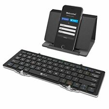 iClever Bluetooth Keyboard Folding Leather Case Mini Keyboard with Stand