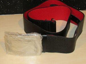 Vintage New Scottish Highland Black Kilt Belt with Buckle Size 38 Gr.Britain