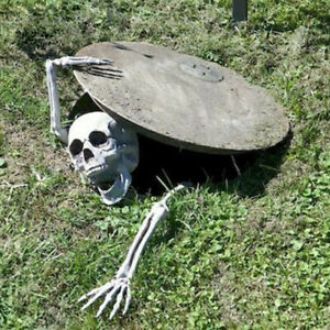 Halloween Skull Skeleton Ground Breaker Prop Holiday Decor Party Lawn Head Arms