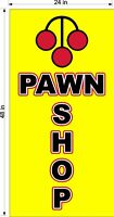 NEW PERFORATED WINDOW VINYL DECAL PAWN SHOP  2' X 4'  GRAPHIC VERTICAL