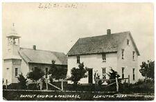 RPPC - Lewiston, Nebraska Baptist Church & Parsonage - 1909