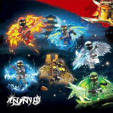 6Pcs Ninjago Wing Mini Figures Kai Jay Cole Zane Lloyd Nya Fits Lego Blocks Toys