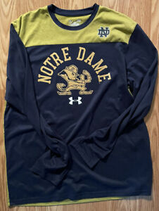 Notre Dame Football Under Armour shirt Size Large