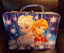 Frozen Disney Metal Lunch Box with Elsa and Anna Frozen - New, FREE SHIPPING!!!