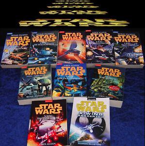 STAR WARS - X-WING Band 1 bis 10 komplett - Kommando Han Solo - Krieg der Sterne