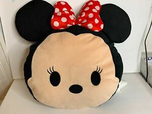 Disney Tsum Tsum Minnie Mouse Head Pillow Plush Jumbo Large 18 x 20