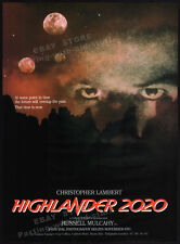 HIGHLANDER II: The Quickening / 2020__Original 1989 Trade print AD promo_poster
