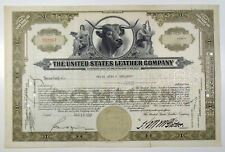 NJ. The United States Leather Co. 1937, 1 Shr Common Stock Cert. ABNC