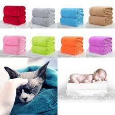 1pc Super Soft Warm Solid Warm Micro Plush Fleece Blanket Throw Rug Sofa Bedding