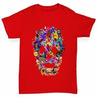 Twisted Envy Floral Skull Boy's Funny T-Shirt