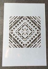 Mediterranean tile Mylar Reusable Stencil Airbrush Painting Art DIY Home