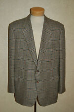 $7.5K Classic Bijan MINT 46 Bespoke Custom 100% Cashmere Glen Plaid Sport Coat