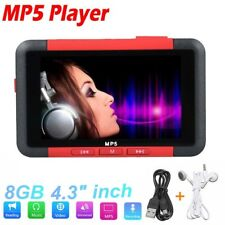 8GB Slim MP3 MP4 MP5 Music Player 4.3 inch TFT LCD Screen FM Radio Video Movie