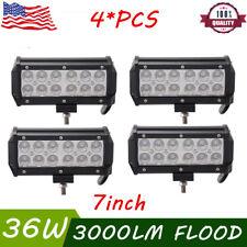 "4x 7inch 36W LED Fog Pod Work Light Bar Flood Beam Off-Road Driving Lights 7"""