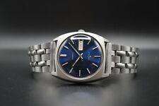 February 1978 Vintage Seiko 6309 8080 Automatic Bracelet Watch Blue Dial