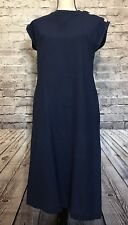 MS. KONO INC. NEW YORK Ladies Dress Blue Cap Sleeve Pockets Vintage Size 10