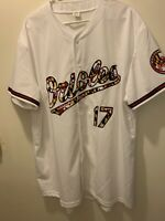 Baltimore Orioles MLB White Maryland Flag Script #17 XL Jersey