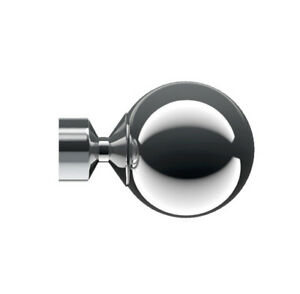 Speedy Poles Apart Ball finials in Chrome for 28mm pole