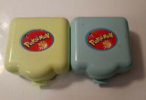 Vintage 1997 Tomy Nintendo Pokemon Polly Pocket Play Sets Lot of 2