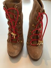 Tory Burch Halima Suede Ankle Bootie Size 71/2 preowned.