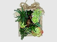 ARTIFICIAL  SUCCULENT WALL HANGING- CRAFT
