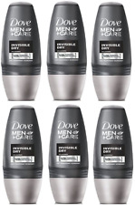 Pack of 6 Dove Men Antiperspirant Deodorant INVISIBLE DRY Roll On 50ml