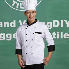 Unisex Chef Jackets Waiter Suit Coat Long Sleeves Chef Uniforms
