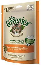 Feline Greenies Dental Treats - Oven Roasted Chicken Flavor, 2.5oz