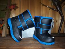 BOY TODDLER WINTER BOOTS TEMP RATED -5 SIZE 7 COLOR BLACK BLUE KIDS CASUAL SHOE