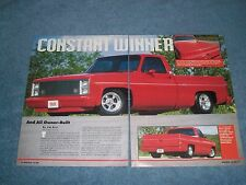 "1986 Chevy C10 Silverado Short Bed Fleetside Pickup Article ""Constant Winner"""