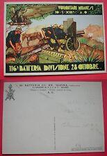 CARTOLINA COLONIALE 116 BATTERIA DIVISIONE 28 OTTOBRE - VOLONTARI MILANESI A.O.