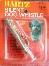 Vintage Hartz Japan Silent Dog Whistle with Clip NOS hunting sporting training