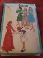 VTG Simplicity Pattern 8288 size 7 girl dress sundress pinafore  2 lengths 1977
