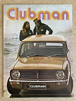 1971 British Leyland Mini Clubman original Australian sales brochure 4/71