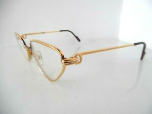 Cartier Paris Gold & Silver Oval Eye Glasses  Made in France 56 19 135 1197788