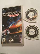 2x SONY PSP N4S Games NEED FOR SPEED UNDERGROUND rivali in scatola + sotto copertura UMD