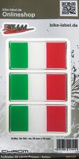 Aufkleber 3D Länder-Flaggen - Italien Italy 70 x 35 mm mit Chromrand - 300105