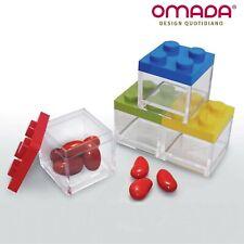 Bomboniera, Scatola in Plexiglass a Mattoncino, Trasparente, 24pz, Omada Design