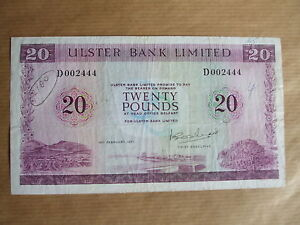ULSTER  BANK  £20  NOTE, 1971.