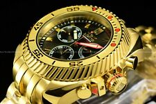 Invicta 50MM Gearhead Jason Taylor Limited Ed. Gold Plated Chrono JT Watch
