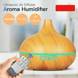 Electric Aroma Diffuser Essential Oil Humidifier Misty LED Change Remote Control