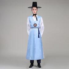 Korea Mens Traditional Court Hanbok Official Uniforms Long Robes Cosplay mt00