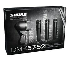 Shure*DMK57-52 Bundle*Drum Microphone Kit + 4 XLR Cables Bundle FREE SHIP NEW