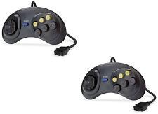 2x Sega Mega Drive & Master System 6 botón lucha Controlador Gamepad Joystick