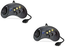 2x Sega Mega Drive & Master System 6 Button Fighting Controller Gamepad Joystick