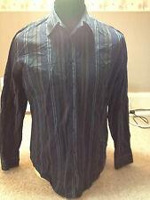 Ben Sherman Black Casual Shirt  Adult Large Long Sleeved (X 616)