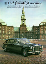 Daimler DS420 Limousine Specification c 1972-73 UK Market Foldout Brochure