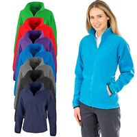 Womens Ladies Fleece Jacket Full Zip Up Warm Classic Micro Fleece Anti Pill Tops
